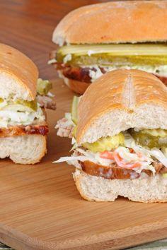 Weight Watchers BBQ Pork Sandwich with Coleslaw Recipe 7 points