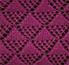 Another lovely lace stitch from knitting fool.com