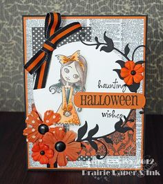 Card #6 from my 2012 Halloween Card Series by AmyR of Prairie Paper & Ink