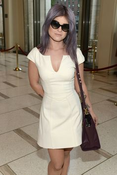 Kelly Osbourne & Lourdes Leon: Zac Posen Show at Fashion Week: Photo Kelly Osbourne is chic in white while attending the Zac Posen Spring 2013 fashion show during Mercedes-Benz Fashion Week held at Avery Fisher Hall on Sunday (September… Kelly Osbourne, Ozzy Osbourne, Zac Posen, Color Fantasia, Cute Dresses, Dresses For Work, Dress Me Up, Plus Size Outfits, Spring Fashion