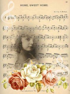 BG Home Sweet Home Musicsheet -©CW