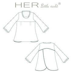 HER Little world, Patron de couture pour adulte : Tunique Singulière