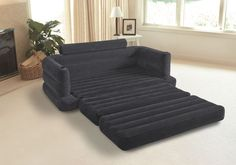 Intex Pull-out Sofa Inflatable Couch Dorm Chair Queen Bed Mattress Sleeper #Intex