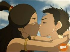 Image about kiss in 🔥Avatar:legend of aang and korra💧 by Michelle Mendoza Avatar Aang, Avatar Airbender, Avatar The Last Airbender Art, Team Avatar, Ang And Katara, Avatar Picture, Fire Nation, Zuko, Legend Of Korra