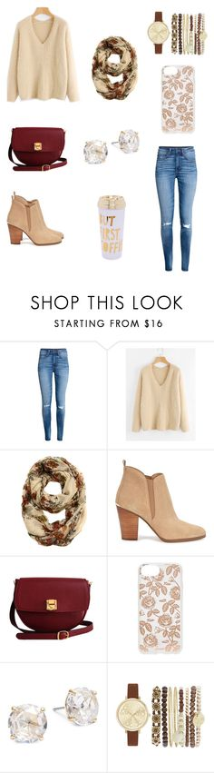 """1st day of fall"" by destinyl734 ❤ liked on Polyvore featuring H&M, Michael Kors, The Code, Sonix, Kate Spade, Jessica Carlyle and ban.do"
