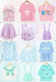 Pastel goth, Lolita and kawaii outfits