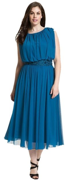 Alex Evenings Plus Size Plus Greek Dress