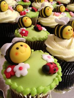 Bumblebee Cupcakes for Ms. Lundyn's first birthday!