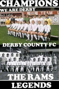 Derby County's Champions 1972 & 1975. English Football League, Derby County, Retro Football, Texaco, Champion, Museum, City, Sports, Hs Sports