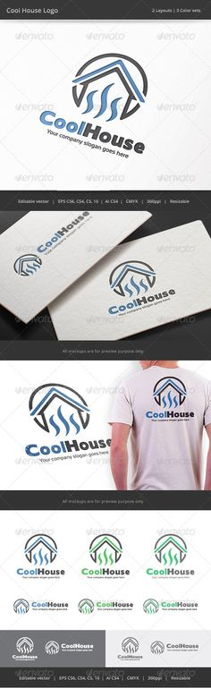 Cool House  Logo Design Template Vector #logotype Download it here:  http://graphicriver.net/item/cool-house-logo/8186005?s_rank=797?ref=nexion