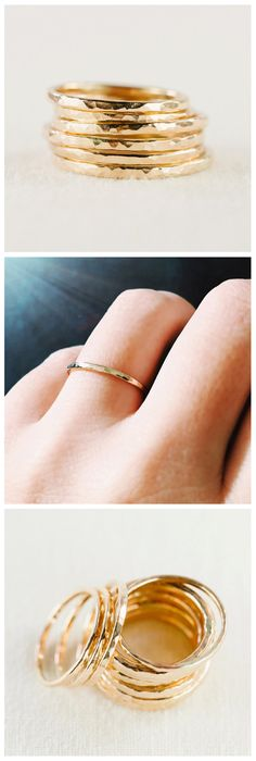Kaiko - (KAEE ko) - sea with strong current.  Beautiful thin, gold, stack ring. This stackable gold ring is handmade with 14kt gold filled and