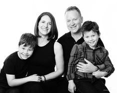 Family portrait photographs shot in studio. Studio Family Portraits, Studio Portrait Photography, Family Photography, Genuine Smile, Studio Shoot, Black And White Photography, Photographs, Photoshoot, Couple Photos