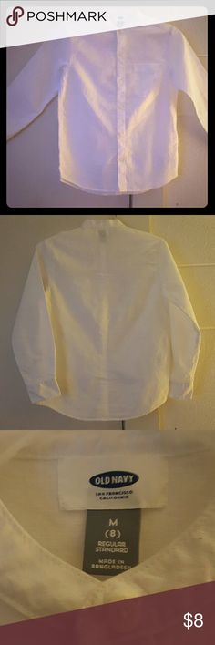All White Old Navy Button Down Amazing Condition Boy Button Down From Old Navy....Never Worn & Great Fabric Old Navy Shirts & Tops Button Down Shirts