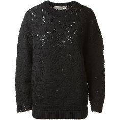 Stella McCartney Stella Mccarney Black Crochet Pullover