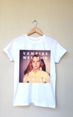 Vampire Weekend Contra Printed T Shirt Top Custom by deegamzach, $13.00 I really want this