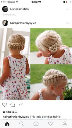 Braids and hairstyles - Frisuren Kinder - kinder, # Braids frisuren kinder Girls Hairdos, Flower Girl Hairstyles, African Braids Hairstyles, Little Girl Hairstyles, Braided Hairstyles, Toddler Hairstyles, Braided Updo, Prom Hairstyles, Trending Hairstyles