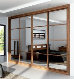 Discover recipes, home ideas, style inspiration and other ideas to try. Small Rooms, Small Apartments, Bkk Hotel, Door Design, House Design, Mirror Closet Doors, Partition Design, Inside Doors, Wardrobe Closet