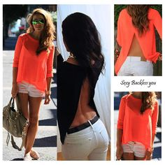 Sexy Fashion Women Summer Tops Long Sleeve Shirt Casual Blouse (CLICK BELOW!) #Unbranded #Blouse #Party