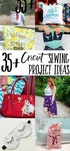 Sewing For Beginners Easy Cricuts aren't just for paper crafts, check out how you can use your Cricut with fabric! Lots of sewing tutorials and inspiration for using your Cricut to embellish and create projects. Sewing Hacks, Sewing Tutorials, Sewing Crafts, Sewing Tips, Sewing Ideas, Cricut Tutorials, Sewing Basics, Sewing Patterns Free, Free Sewing