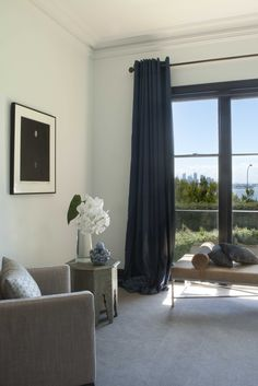 Formal Living with views to city and harbour. Brooke Aitken Design