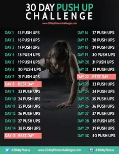 30 Day PUSH UP Challenge.