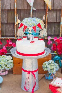 Carnival Inspired Dessert Table   Cake