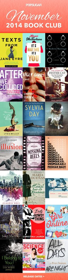 The best new books out in November 2014! #fallreading #reading #bookclub
