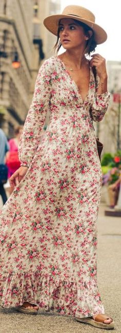 Adorable Boho-Chic Style Inspirations and Outfit Ideas - Trend To Wear Trendy Dresses, Casual Dresses, Summer Dresses, Maxi Dresses, Maxi Skirts, Summer Maxi, Maxis, Floral Dresses, 60s Dresses