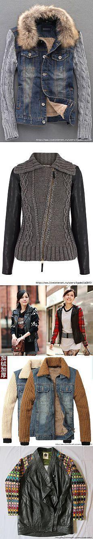 Идеи переделки кожаных и джинсовых курток + вязание