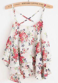 Bernard Lafond Furs: Floral Layer Top