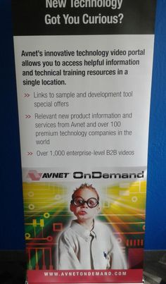 Avnet OnDemand - new pop-up sign designed by us5