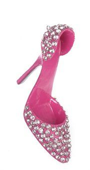 Fashion Avenue Pink Pump Rhinestone Shoe Christmas Ornament