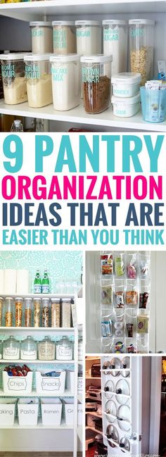 Don't miss out on these Pantry Organization Ideas that work really well! Great way to give your kitchen pantry a complete makeover without spending too much. The organization and storage ideas will really change the way you live!