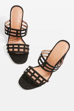 3bb240acf4 Saskia Caged Mules - Topshop USA Heeled Mules, Mules Shoes, Shoes Heels,  Topshop
