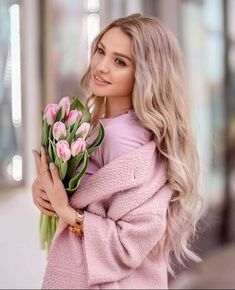 Beautiful Flowers, Most Beautiful, Beautiful Women, Lavender Care, Girls With Flowers, Pink Garden, Pink Tulips, Girl Photos, Pink Color
