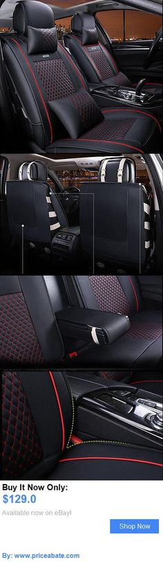 Luxury Cars: Luxury Front Black And Red Universal Interior Pu Leather Car Seat Cover 6Pcs BUY IT NOW ONLY: $129.0 #priceabateLuxuryCars OR #priceabate