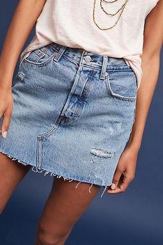 Levi's Distressed Denim Mini Skirt