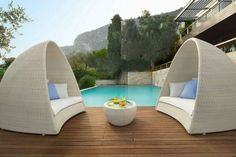 Plastic Outdoor Lounge Chair Furniture Designed by Fousse House ...