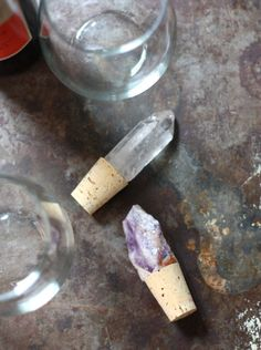 Jeweled Crystal Wine Stoppers #diy