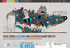 Interactive Illustrated Website Design: Hugs for Monsters