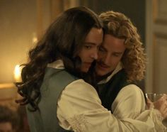The brilliant Evan Williams as the Chevalier de Lorraine & Alexander Vlahos as Monsieur Philippe Duc D'Orleans in the hit canal+ series Versailles