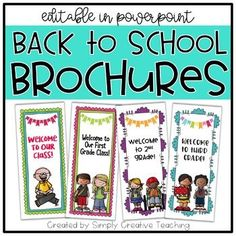 This product is an *editable* back to school brochure / pamphlet - great to use at Back To School Open Houses or Meet the Teacher night! This product is a PowerPoint file where you have the ability to customize a brochure to share your