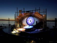 Tosca, 2007-2008, by Giacomo Puccini ~ Photograph by Bregenzer Festspiele / Benno Hagleitner.  Since 1946, the Bregenz Festival 'Opera on the Lake' in Austria has been home to some of the most incredible outdoor stages ever built - set on the gorgeous Lake Constance.