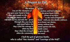 tyr norse god | tyr prayer norse norse gods norse mythology Hail the old gods pagan ...