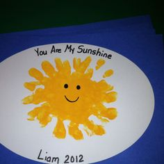 Handprint Sun project. Easy to do just paint childu0027s hand and rotate paper. Keep & Fun and Easy Handprint Sun Paper Plate Craft for Kids | Easy ...