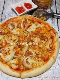 pizza kari tuna Sandwich Melts, Pizza Sandwich, Easy Sauce Recipe, Sauce Recipes, Pizza Hut, Pizza Dough, Ala Pizza, Toast Pizza, Western Food