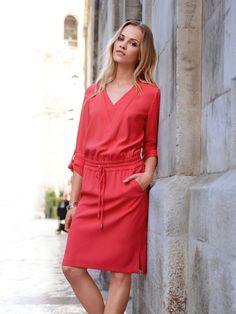 Laurèl Kleid rot Ginta Lapina, Designer, Wrap Dress, Shirt Dress, Elegant, Chic, Celebrities, Shirts, Dresses