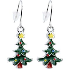 Decorative Christmas Tree Holiday Earrings from body candy. Up to 15% cash back when you purchase through here http://www.rebategiant.com/store/49/body-candy.html