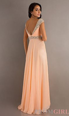 Peach formal gown