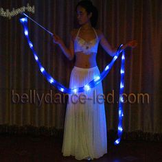 LED Poi Silk Fan Veil Band